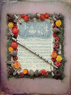 Photograph - Christmas Sheet Music With Flute by Leslie Montgomery