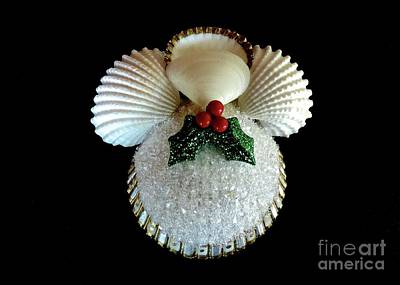 Photograph - Christmas Shell Angel by Jean Wright