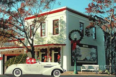 Photograph - Christmas Shopping In Georgetown, Texas  by Janette Boyd