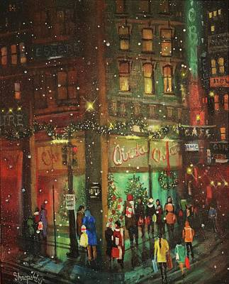 Painting - Christmas Shopping  by Tom Shropshire
