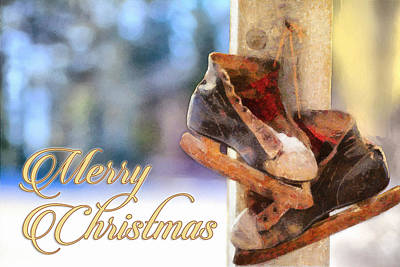 Christmas Skates Art Print