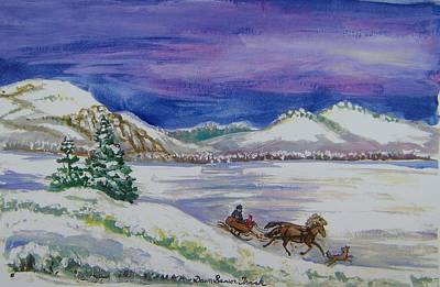 Painting - Christmas Sleigh by Dawn Senior-Trask