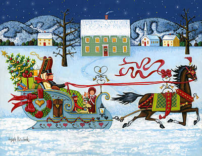 Painting - Christmas Sleigh by Joseph Holodook