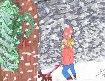 Christmas Snow Art Print by Elinor Rakowski