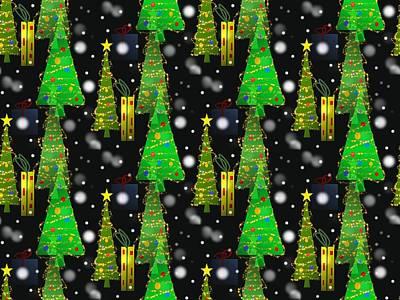 Christmas Snow Fall Art Print