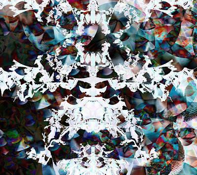 Trippy Digital Art - Christmas Snow Flake by Joshua Sunday