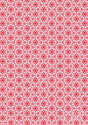 Digital Art - Christmas Snow Flakes Pattern 2 by Silvia Ganora