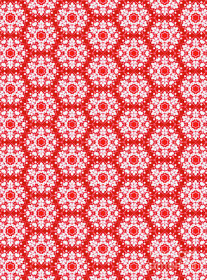 Digital Art - Christmas Snow Flakes Pattern by Silvia Ganora