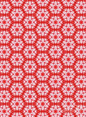 Digital Art - Christmas Snow Flakes Pattern by Silvia Ganora
