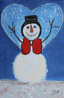 Painting - Christmas Snow Forecast  by Ella Kaye Dickey