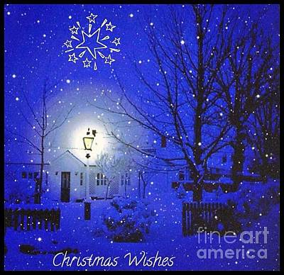 Photograph - Christmas Snow Greeting 2 by Joan-Violet Stretch
