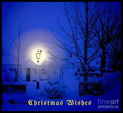 Photograph - Christmas Snow Greetings by Joan-Violet Stretch