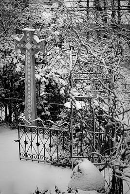 Mick Jagger - Christmas Snow in the Garden by Teresa Mucha