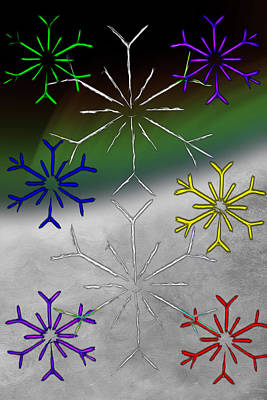 Digital Art - Christmas Snow by John Haldane