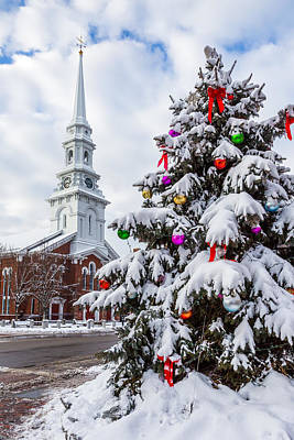 Portsmouth Photograph - Christmas Snow by Scott Patterson
