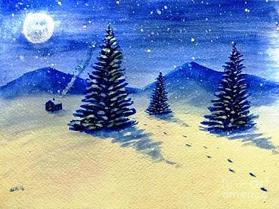 Painting - Christmas Snow by Stacy C Bottoms