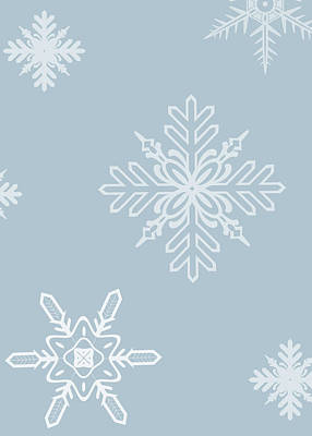 Frost Drawing - Christmas Snowflakes - No Text  by Maggie Terlecki