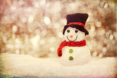 Photograph - Christmas Snowman by Bellesouth Studio