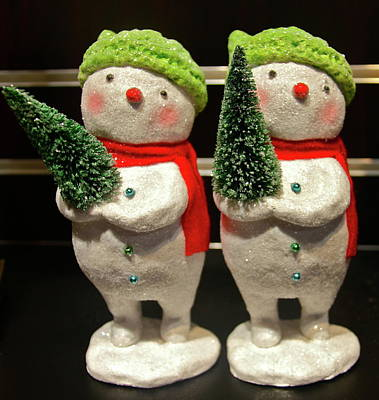 Photograph - Christmas Snowmen by Denise Mazzocco