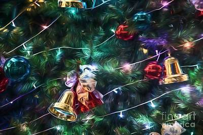 Photograph - Christmas Sparkle  - Horizontal  Go1rw by Ray Warren