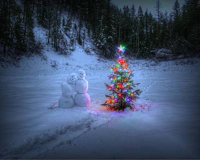Christmas Spirit At Grouse Creek Art Print