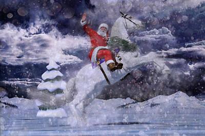 Christmas Holiday Scenery Digital Art - Christmas Spirit by Betsy Knapp