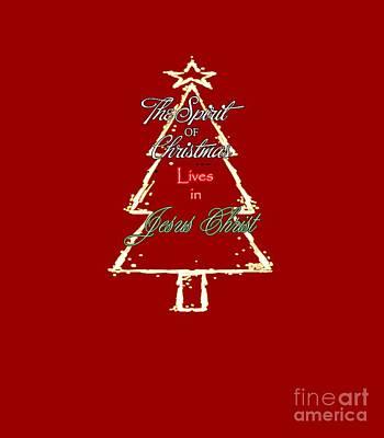Digital Art - Christmas Spirit by Judy Hall-Folde