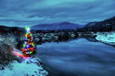 Photograph - Christmas Spirit On Bull River by Robert Hosea