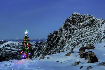 Photograph - Christmas Spirit On Scotchman Peak by Robert Hosea