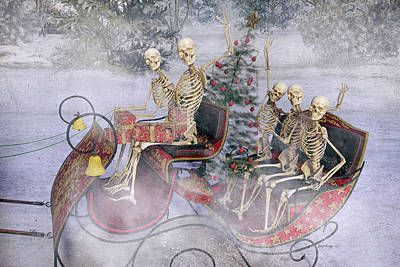 Human Skeleton Digital Art - Christmas Spirits Heading To Topsail Island Nc by Betsy Knapp