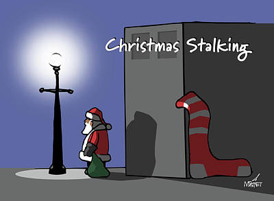 Digital Art - Christmas Stalking by Mike Martinet