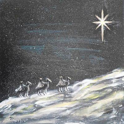 Christmas Star Print by Diane Wigstone