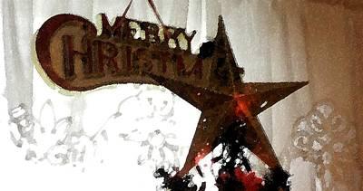 Digital Art - Christmas Star by Ej Catoe