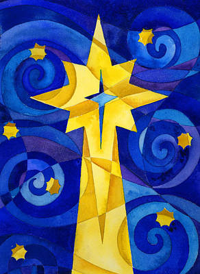 Christmas Star Print by Mark Jennings