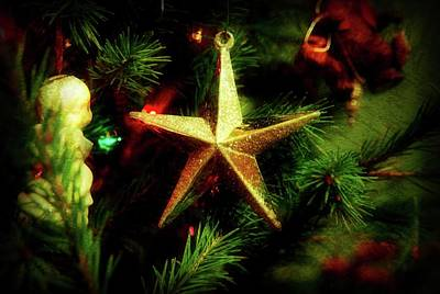Photograph - Christmas Star Ornament by Angie Tirado