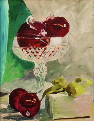 Painting - Christmas Still Life by Paulette B Wright