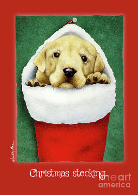 Painting - Christmas Stocking... by Will Bullas