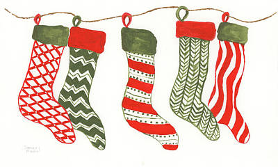 Painting - Christmas Stockings by Darice Machel McGuire
