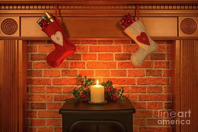 Staff Picks Cortney Herron - Christmas stockings hanging over the fireplace. by Richard Thomas