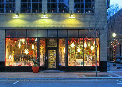 Photograph - Christmas Storefront by Victor Montgomery