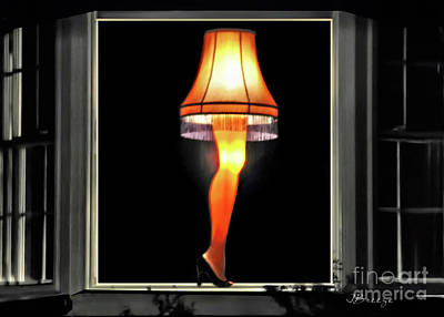 Iconic Lamp Design Photograph - Christmas Story Leg Lamp by Jennie Breeze