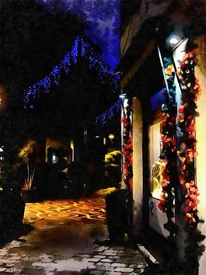 Photograph - Christmas Street Impressions by Dorothy Berry-Lound