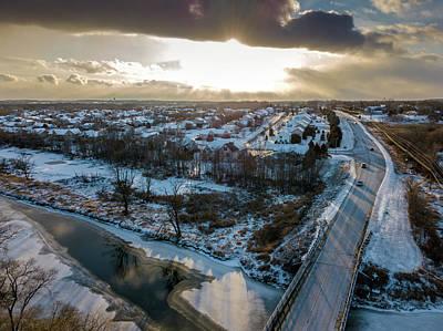 Photograph - Christmas Sunset by Randy Scherkenbach