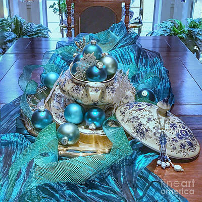 Photograph - Christmas Table by Bob Brents