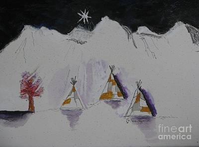 Christmas Teepees Art Print by James SheppardIII