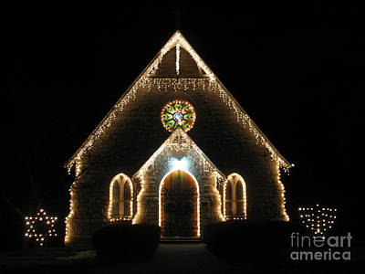 Photograph - Christmas Time Chapel by Sherri Williams