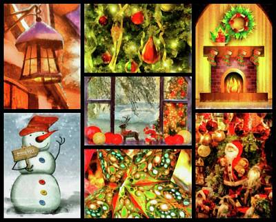 Santa Claus Painting - Christmas Time by Esoterica Art Agency