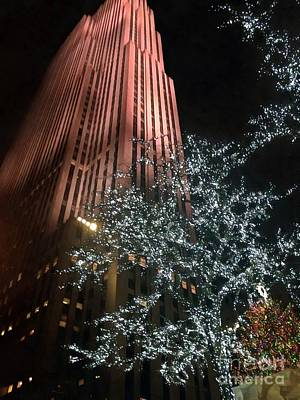 Photograph - Christmas Time In Nyc Rockefeller Center by J Mogdam Janine Riley