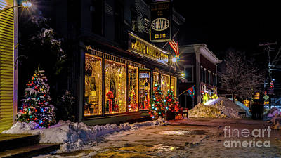 Photograph - Christmas Time In Stowe by Scenic Vermont Photography