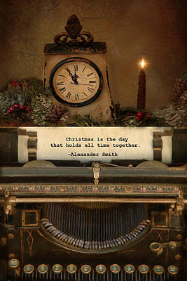 Typewriter Photograph - Christmas Time by Robin-Lee Vieira
